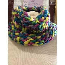 SNOOD  CHAUD COLORE NEUF